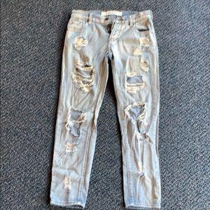 Brandy Melville Light Denim Distressed Jeans